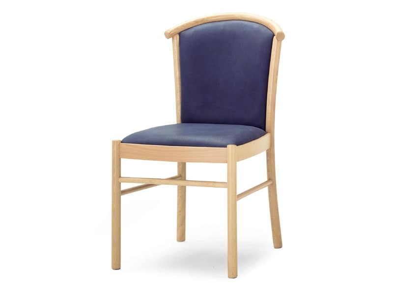 MD/4, Sedia in legno imbottita, per sale da pranzo