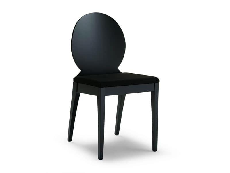 Sedia In Legno Di Faggio Con Schienale Ovale Idfdesign