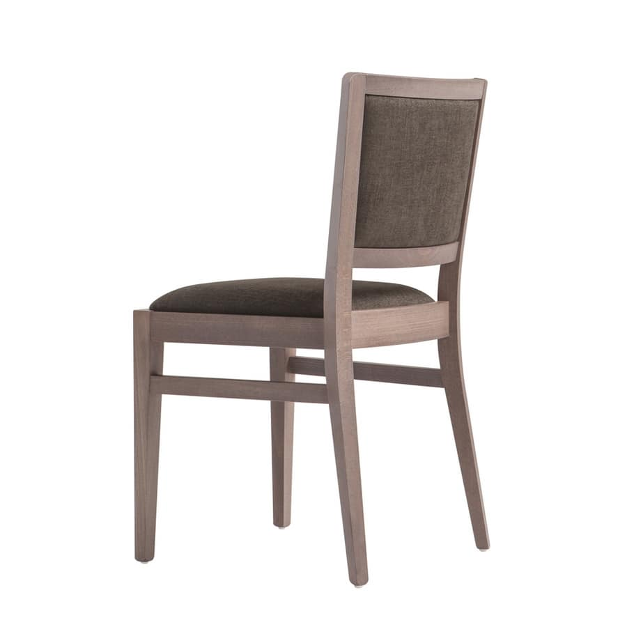 MP472G, Elegante sedia in legno imbottita