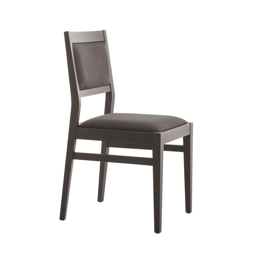 Sedia imbottita per ristorante | IDFdesign