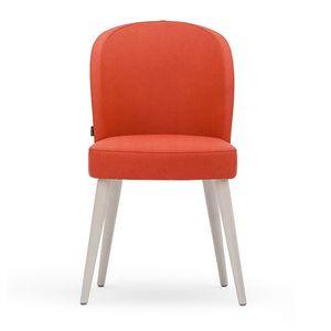 Rose 03011, Sedia in schiumato, con sedile cinghiato e gambe tornite