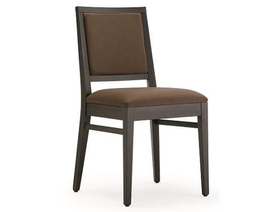 Sedia in legno imbottita per ristoranti ed alberghi idfdesign