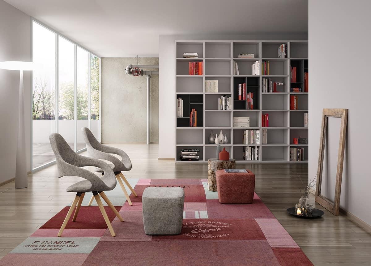 Samba Plus 4G legno, Sedia moderna con 4 gambe coniche in legno