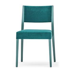 Sintesi 01514, Sedia in legno massiccio, schienale e seduta imbottita, stile moderno