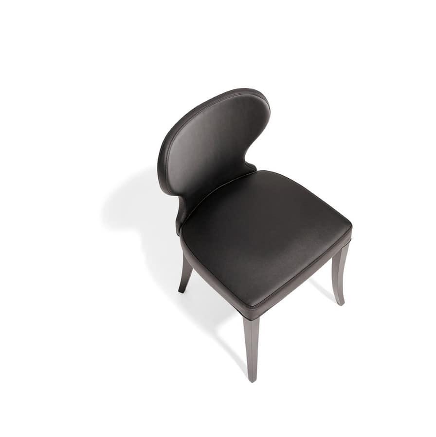VANITY, Sedia in legno imbottita, per sala da pranzo