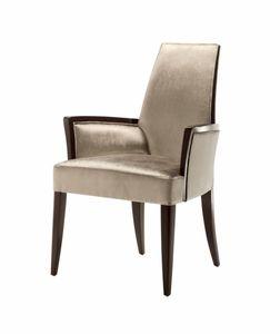 Vendome sedia con braccioli, Sedia con braccioli, imbottita, per uso contract