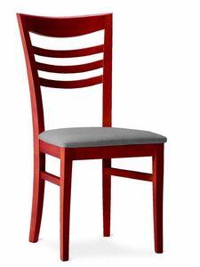 220 Sveva, Sedia in legno con seduta imbottita