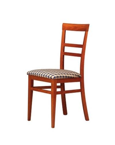 314, Sedia con schienale a motivo orizzontale, per soggiorno
