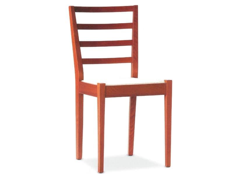 AMBRA 4, Sedie legno seduta imbottita Albergo