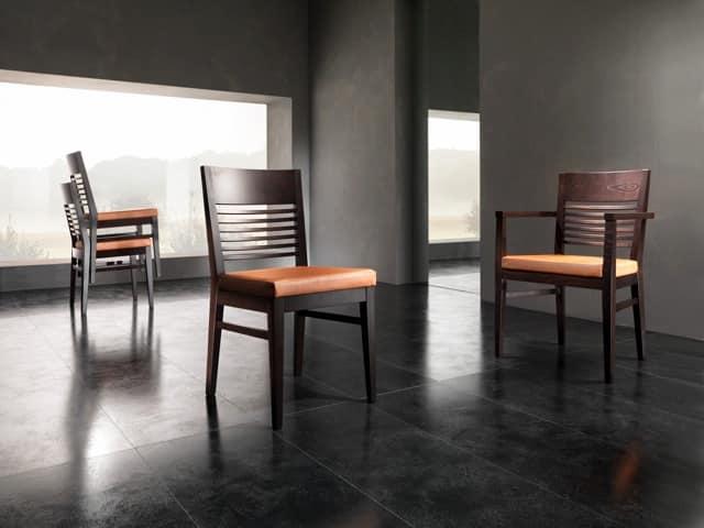CHANCE sedia 8599S, Sedia struttura in legno Albergo
