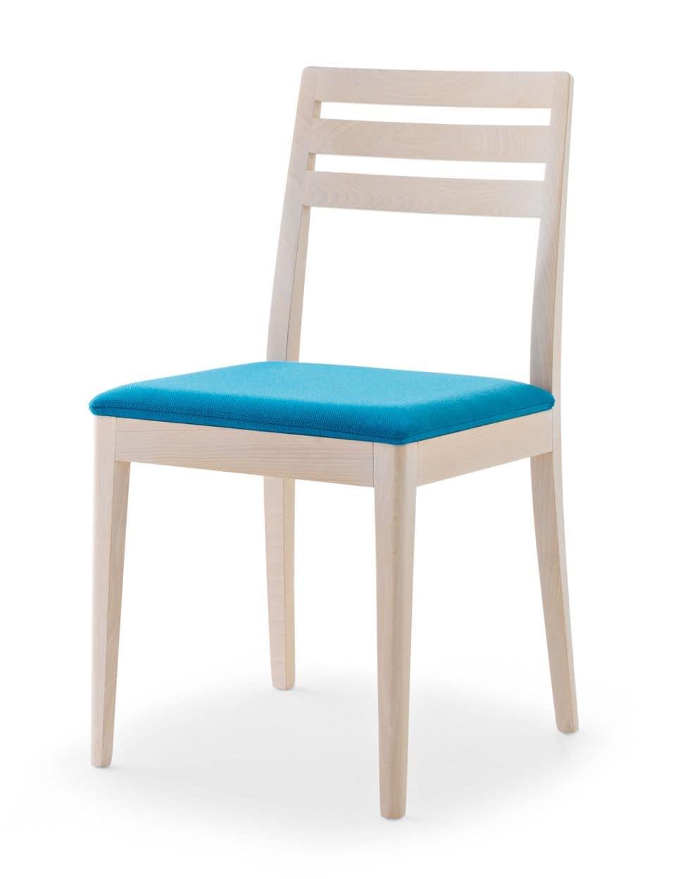 Sedia interamente in faggio schienale a doghe for Sedia design amazon