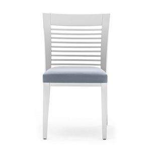Logica 00915, Sedia da pranzo in legno con schienale a motivo orizzontale