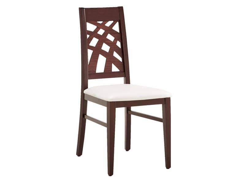 SE 490 / D, Sedia da pranzo, lineare, in legno, per Soggiorno
