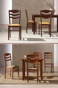 Immagine di URBINO 475, sedia legno schienale decorato