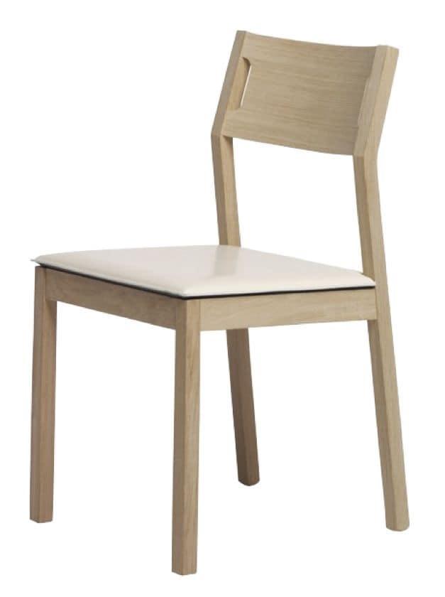 Sedia semplice in legno per la cucina, sedia in faggio per ...