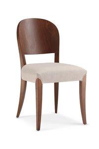 114, Sedia con schienale tamburato e seduta imbottita