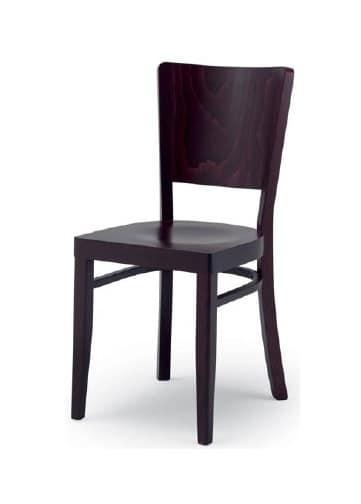 300, Sedia moderna in legno, per uso residenziale e contract