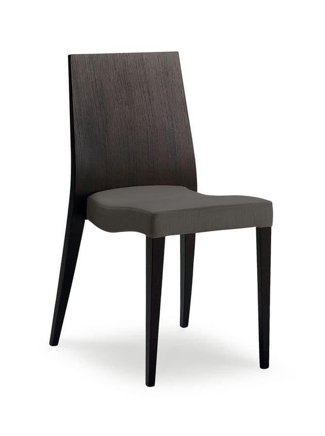 Sedia da pranzo in legno resistente e comoda per albergo for Sedia design comoda