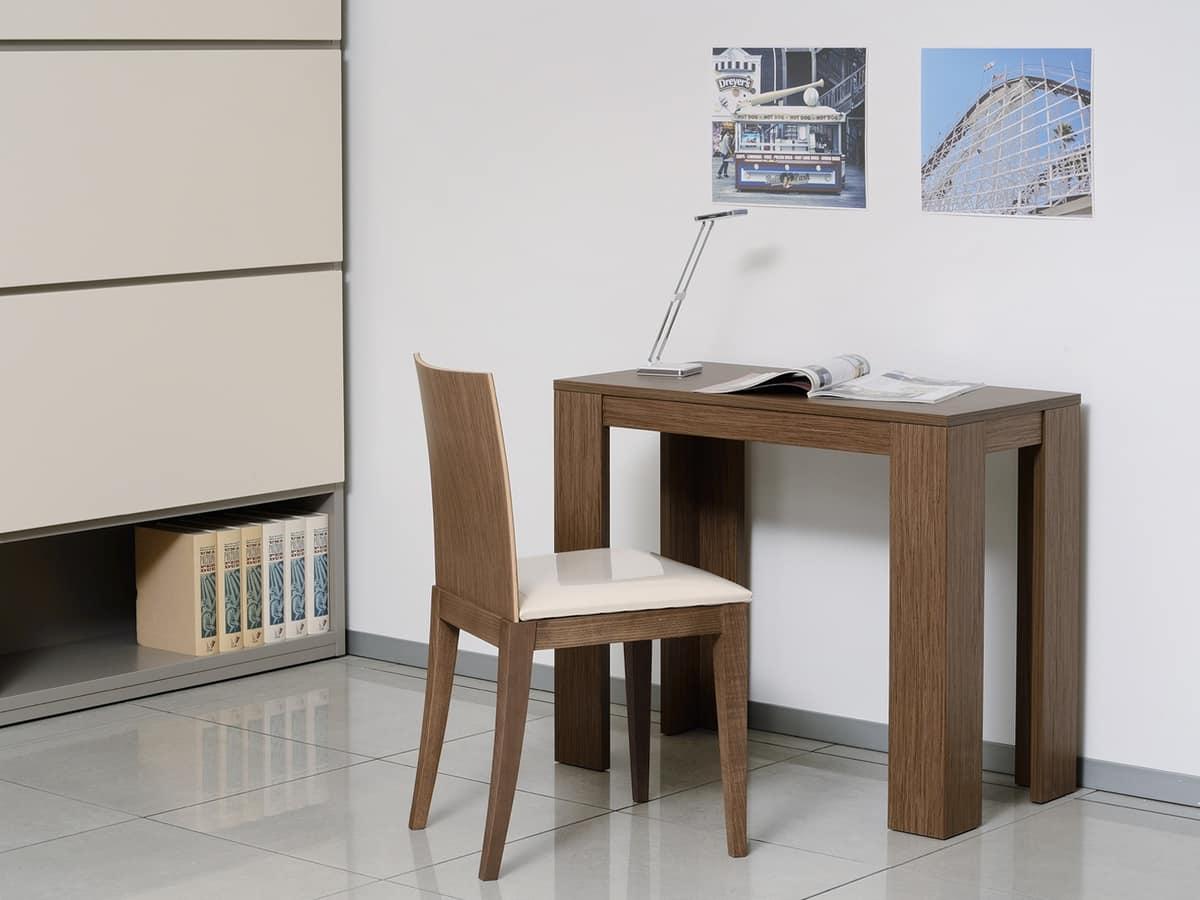 Sedia con seduta imbottita e schienale in legno pieno for Sedia design amazon