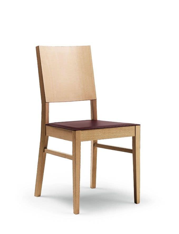 Sedia in legno di faggio per ristorante e sala da pranzo for Sedie sala pranzo legno