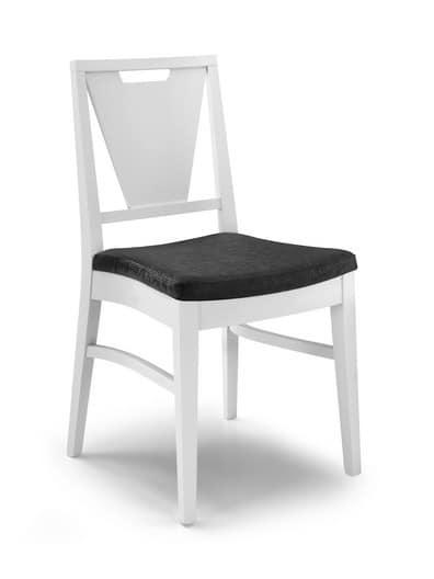 Sedia con schienale a v e maniglia in legno idfdesign for Gaia case in legno