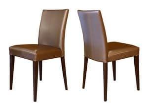 M18, Sedia in legno di faggio, imbottita, per bar e ristoranti