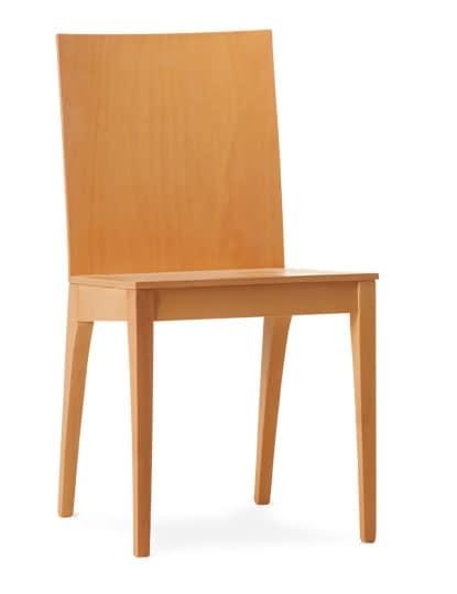 MONIA, Sedia da pranzo interamente in legno multistrato
