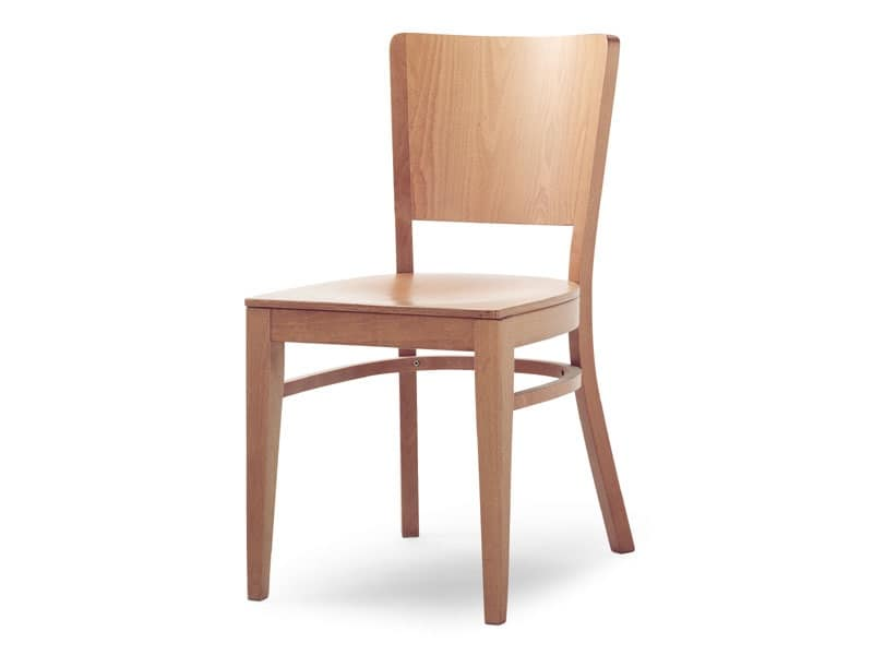 Sedia realizzata completamente in legno idfdesign for Sedie di design in legno
