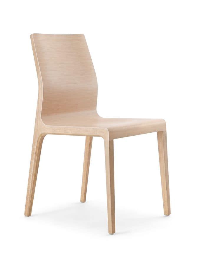 Sedia moderna con scocca in multistrato curvato | IDFdesign