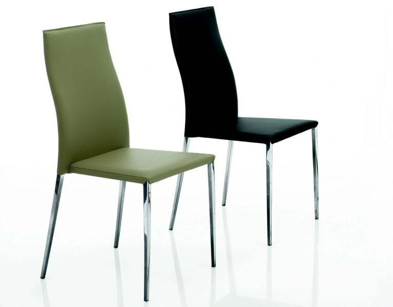 Sedia moderna in pelle idfdesign