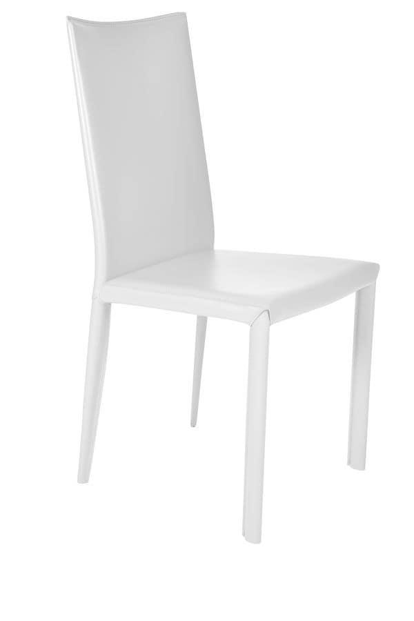 Sedia in pelle per sala da pranzo moderna | IDFdesign