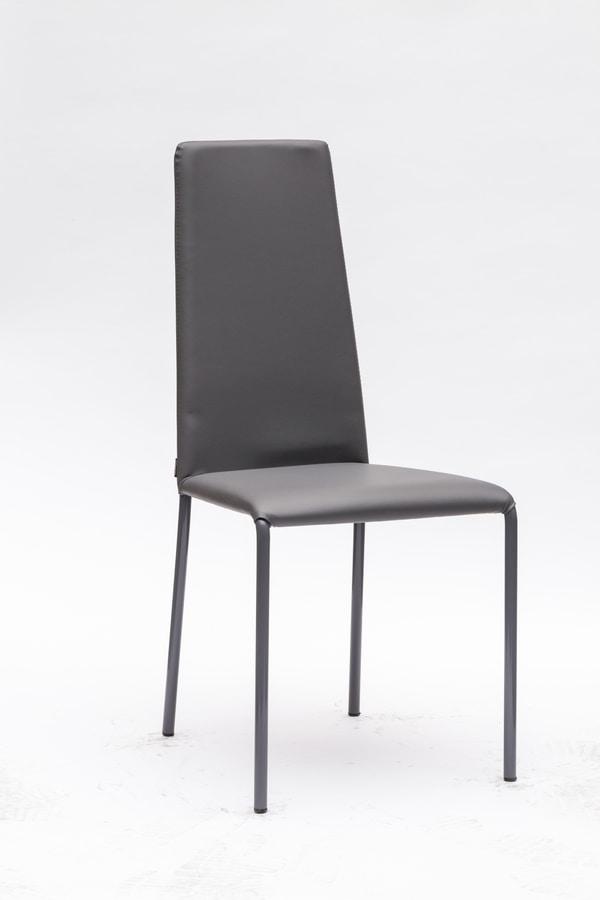 Elegante sedia imbottita in ecopelle | IDFdesign