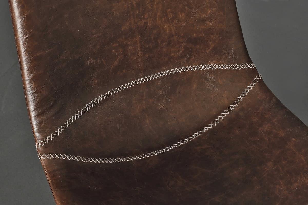 Sedie Vintage Pelle : Sedia imbottita in ecopelle in stile vintage idfdesign