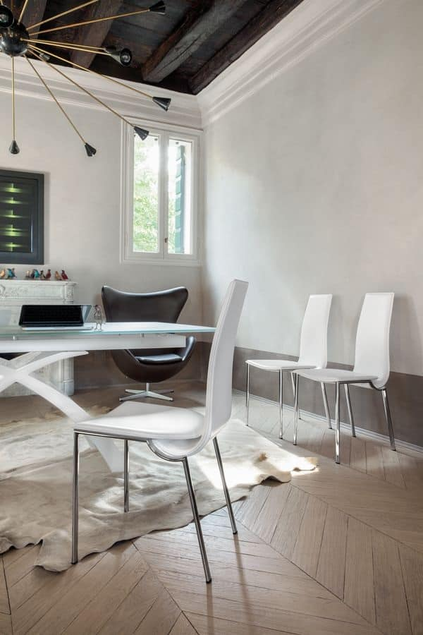 Sedie da pranzo moderne simple ambiente luminoso with sedie da pranzo moderne set sedie - Camere da pranzo moderne ...