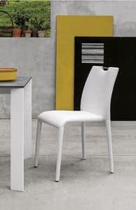 FRIBURGO SE611, Sedia completamente rivestita in soft-touch, stile moderno