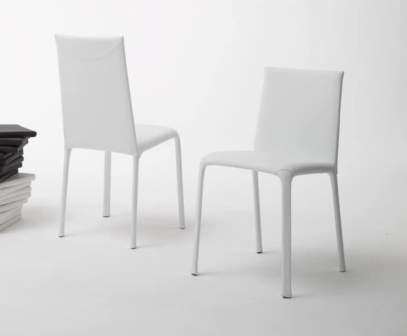 Jenia bassa, Sedia con schienale basso per uso residenziale o contract