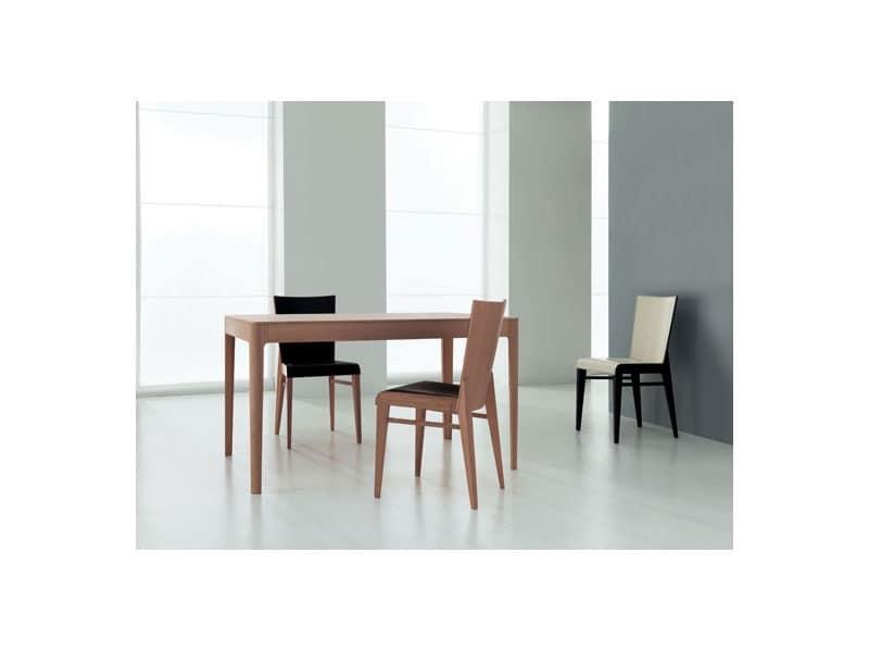 Sedia in legno rivestita in cuoio idfdesign for Sedie pelle e legno