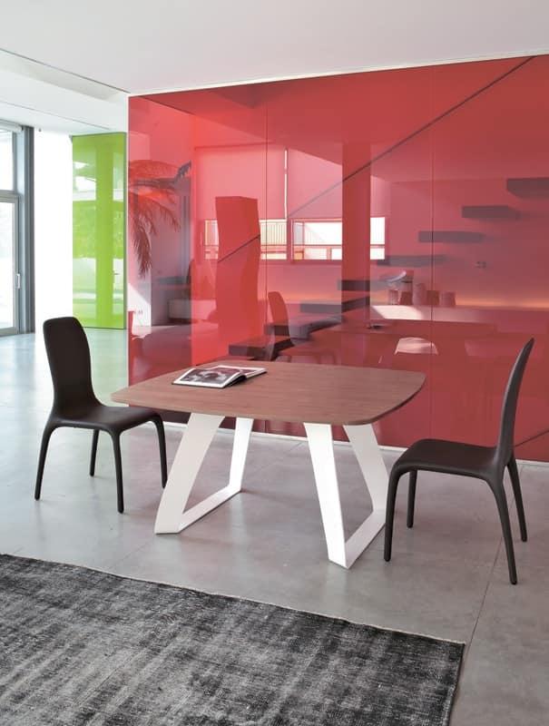 Sedia rivestita con design nuovo dalle linee morbide for Sedia design srl