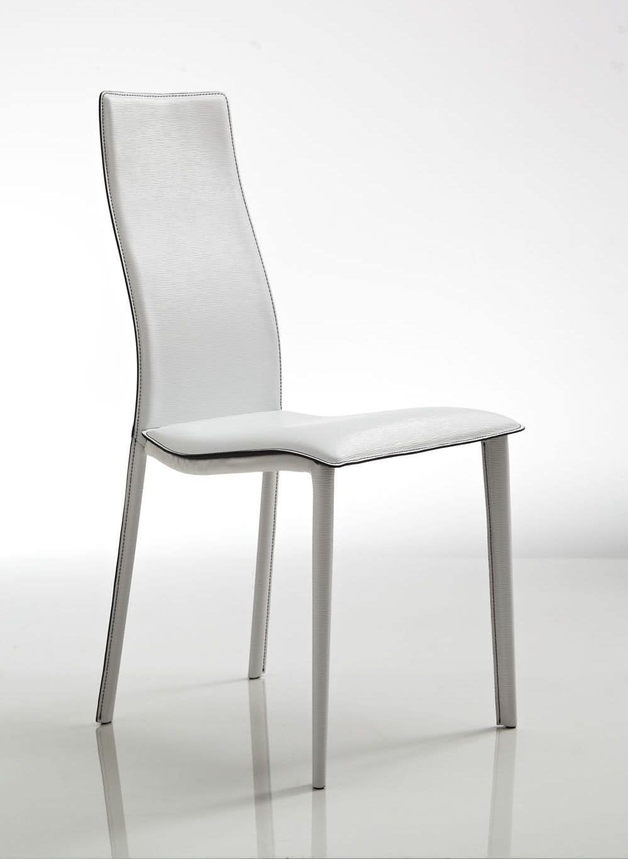 Sedute sedie moderne rivestite in pelle senza braccioli for Rivestimento sedie