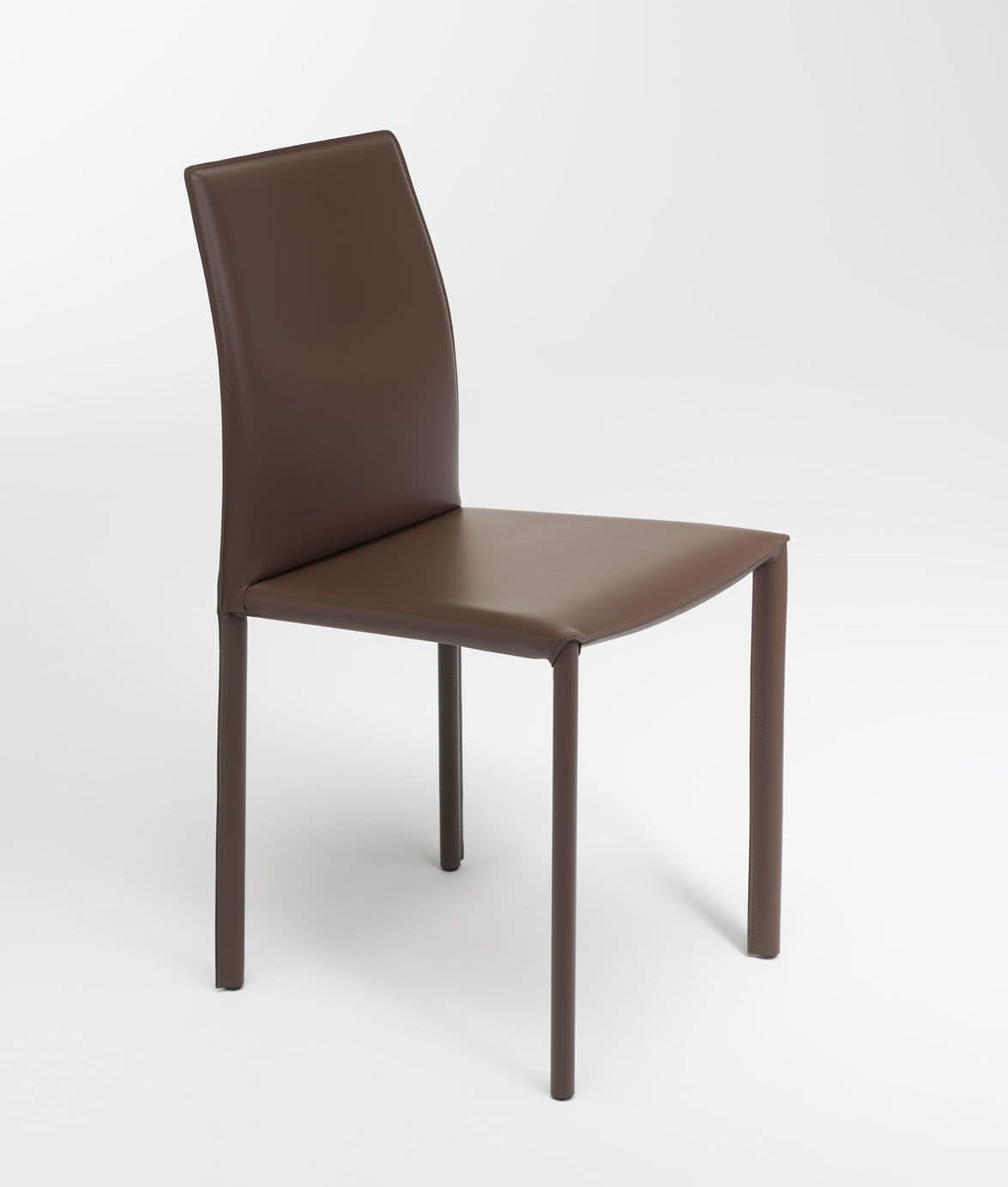 Sedia moderna rivestita in cuoio rigenerato disponibile for Sedie cuoio rigenerato
