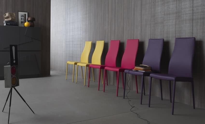 Sedia moderna imbottita schienale alto sala riunioni for Arredo sala riunioni