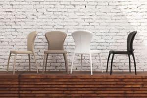 MONACO SE605, Sedia rivestita moderna per sale da pranzo e bar