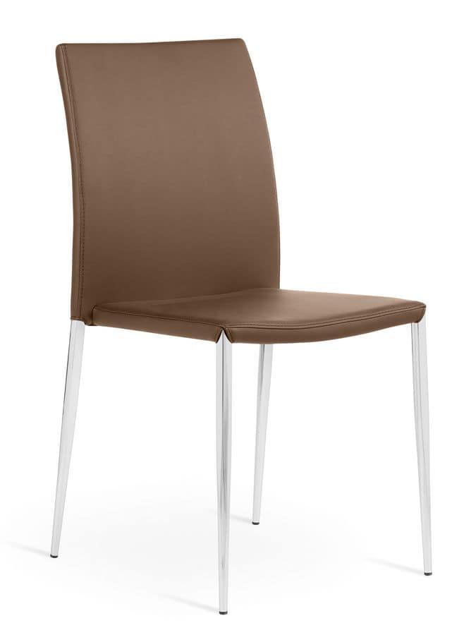 Sedie in pelle per la zona giorno tutto su ispirazione for Design per la casa in metallo