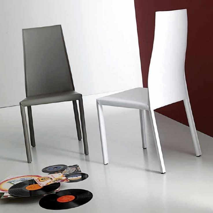Sedia in cuoio rigenerato | IDFdesign