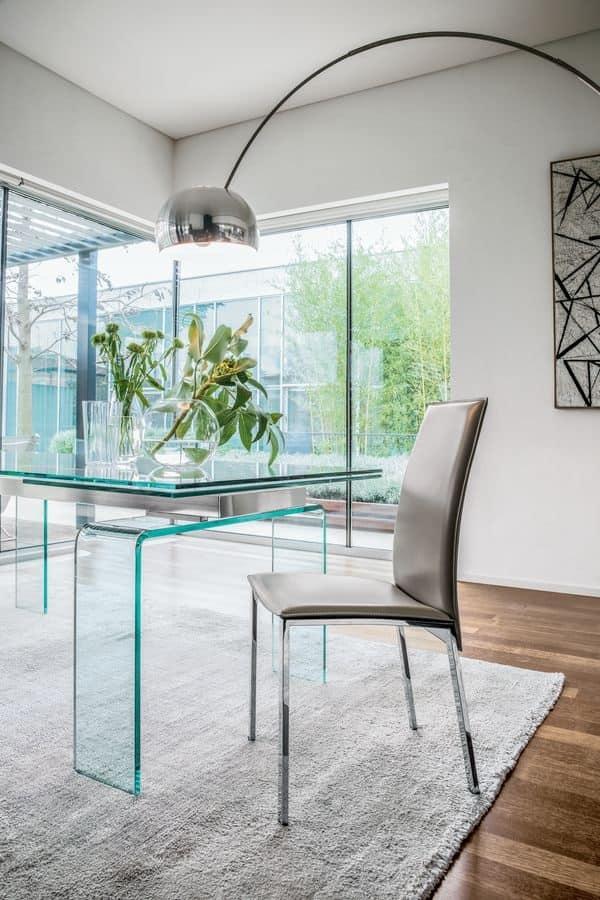Sedia moderna in metallo e legno, per sala da pranzo  IDFdesign