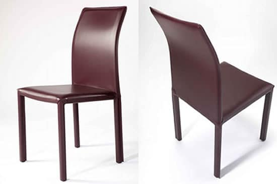 Rose alta sedie moderne imbottite sala da pranzo idfdesign for Sedie moderne rosse