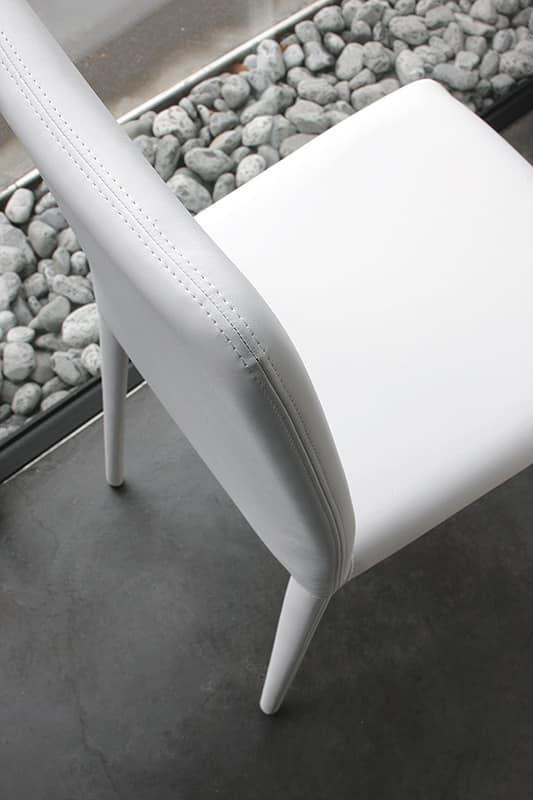 Soft sedia pranzo moderna in pelle hotel idfdesign for Sedia design srl