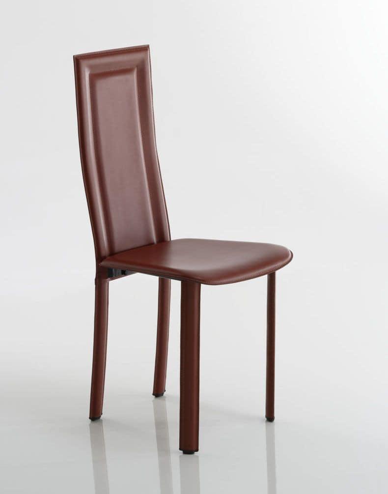 Sedia con rivestimento in cuoio o cuoio rigenerato for Rivestimento sedie