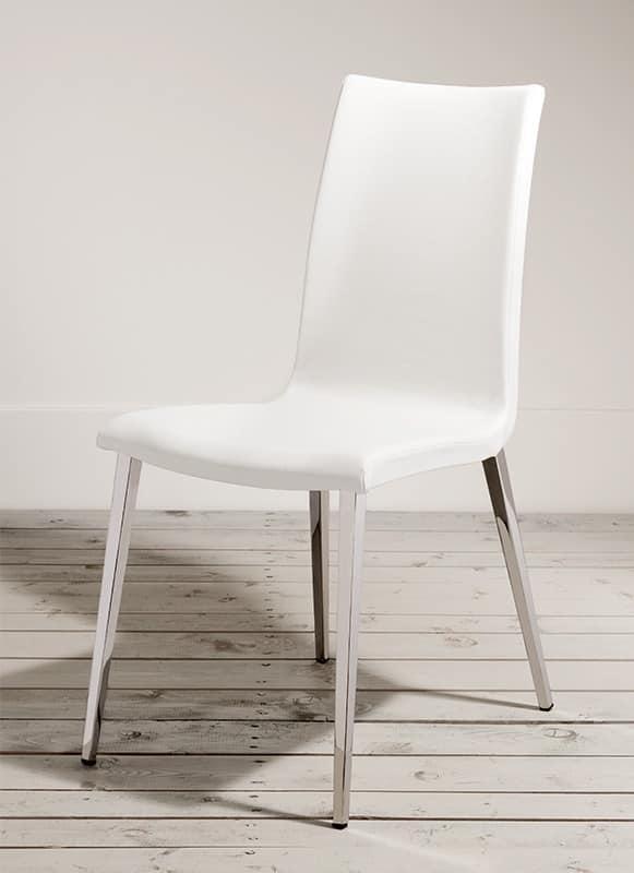 Tulipe sedie rivestite pelle sala ristorante idfdesign for Sedie design in pelle