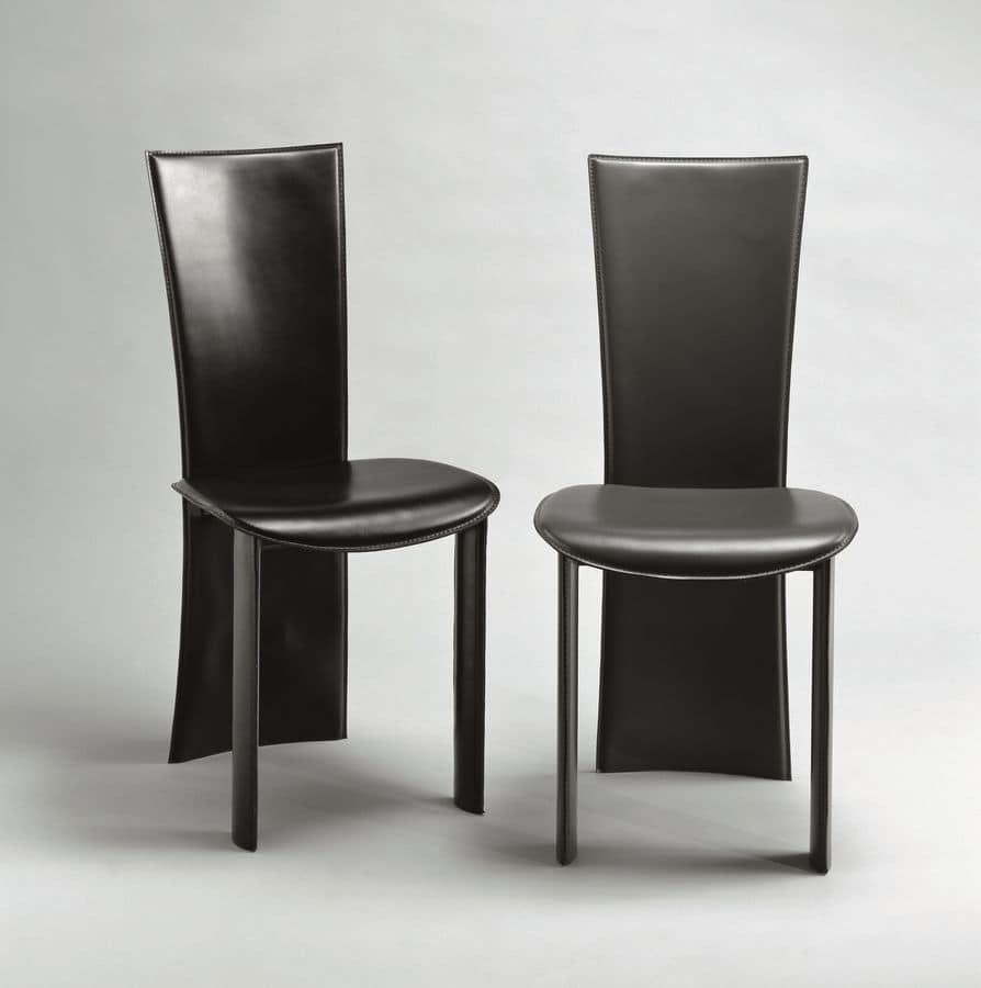 Sedia in pelle adatta per soggiorno ristorante hotel for Sedie da soggiorno
